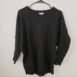 Club Monaco Black Sweater Long Sleeve Tight Arms